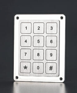 Touch Metal Piezo Keypads