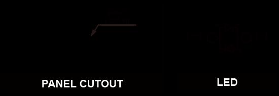 8mm Anti vandal pilot indicator