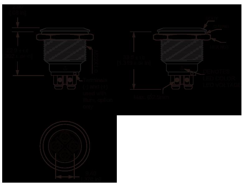 L22M Micro-trip anti vandal switch